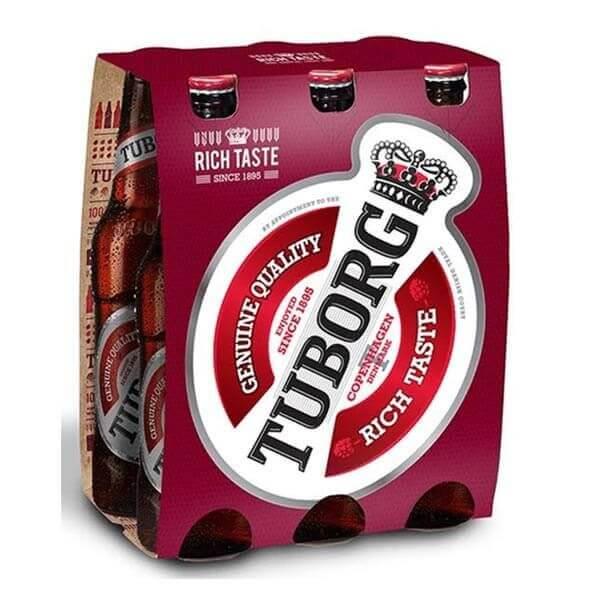 שישיית בירה טובורג אדום