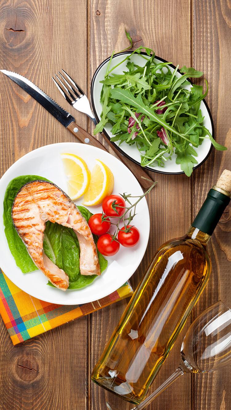 מתכון לדג סלמון עם יין