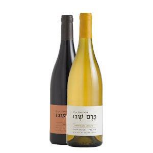 2 יינות כרם שבו אדום+לבן שאנין בלאן