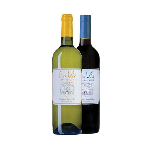 2 יינות קסטל לה וי אדום ולבן