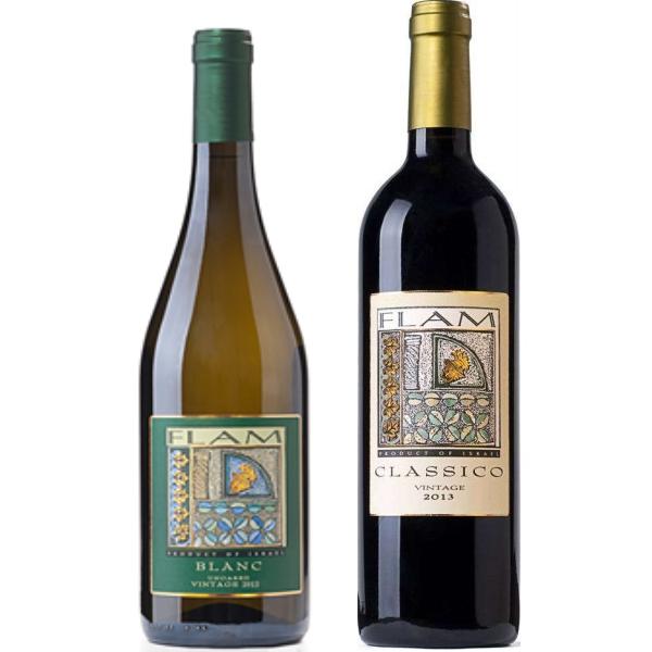 2 יינות פלם קלסיקו אדום ולבן