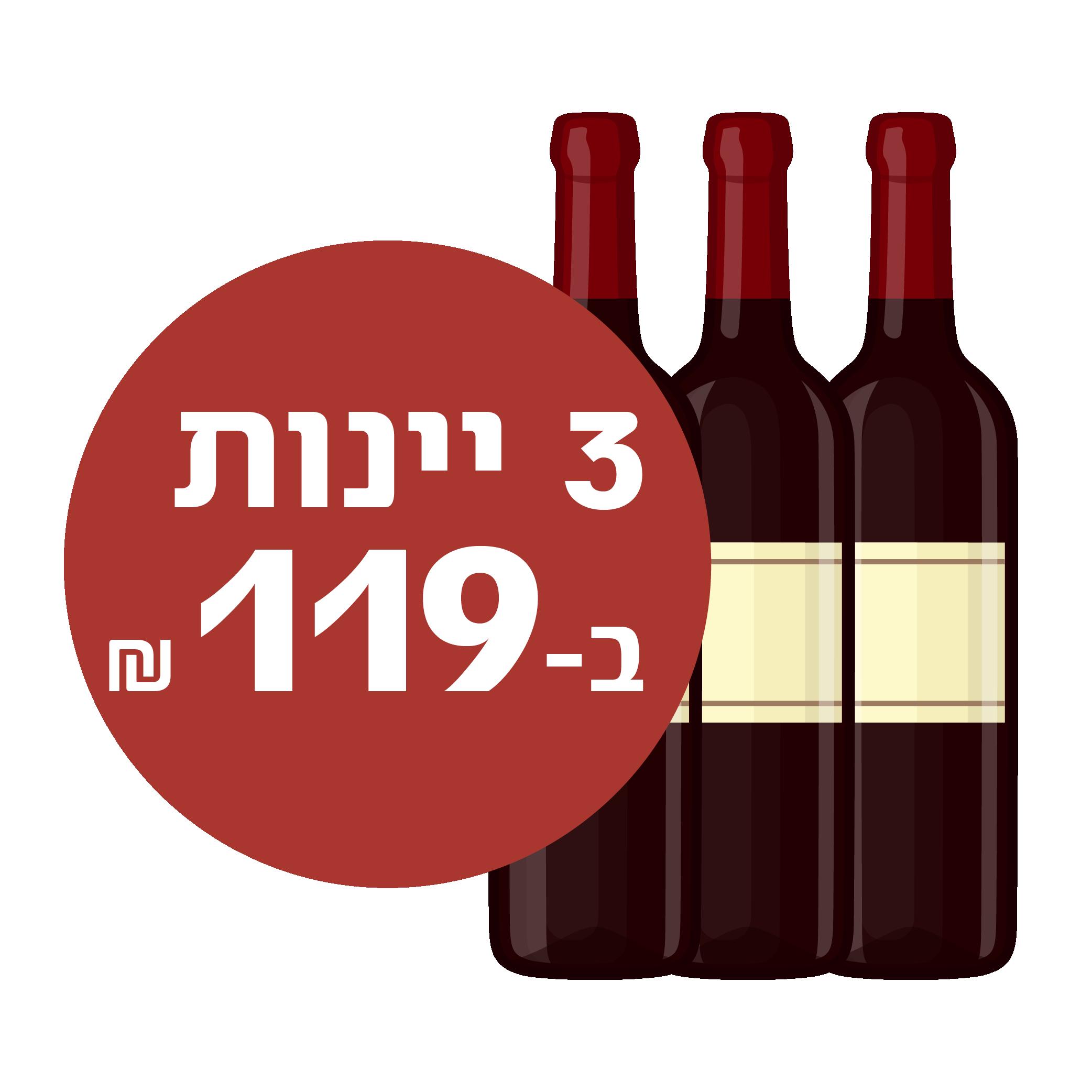 """3 יינות ב-199 ש""""ח"""